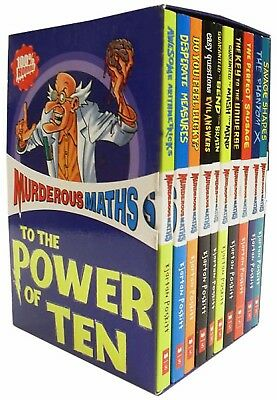 Murderous Maths Collection 10 Books Box Set Gift Pack Horrible Histories Series
