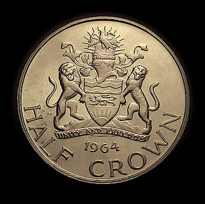 1964 Malawi Nyasaland Half Crown Proof Gorgeous Scarce