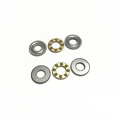 5pcs Axial Ball Thrust Bearing F8-16M 8x16x5mm 3-Parts Miniature Plane Bearing