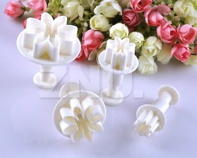 4 X Sugarcraft Cake Decorating Cutter Tool Plunger Daisy