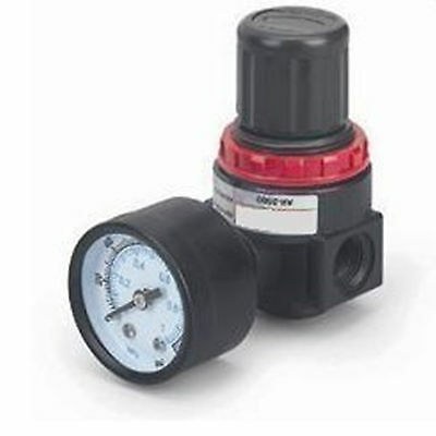 "BR2000 Pneumatic Air Pressure Regulator G1/4"" with Gauge and Bracket"
