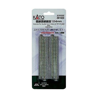 New Kato Unitrack 20-023 124Mm Double Ground Track