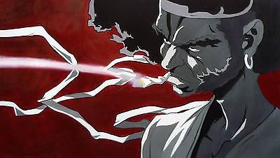 Afro Samurai Oil Painting 40x20 NOT a print or poster Framing Available.1 of 6 !