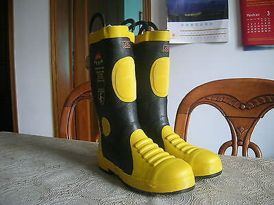 China Armed Police Force (CAPF) Fire Brigade Firefighter Fireproof Boots,New.