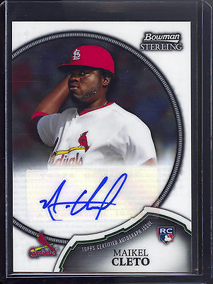 11 Topps Bowman Sterling Maikel Cleto Cardinals Auto RC