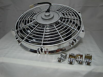 12 Inch Low Profile Chrome High Performance Thermo Fan