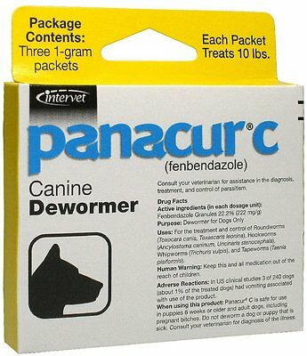 Panacur C Canine Dewormer 1 Gram (3 Packets)