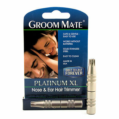 Platinum XL Battery-Free Nose & Ear Hair Trimmer - Lifetime Warranty Made in USA