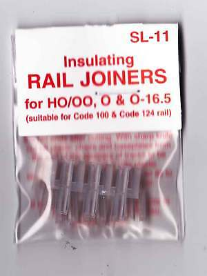 Peco SL-11 OO Gauge Model Railway 12 Insulated Track Rail Joiners Fishplates New