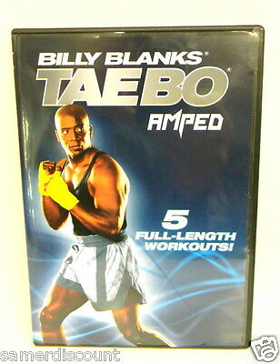 BILLY BLANKS  TAEBO  AMPED  5  FULL  LENGTH WORKOUT / 4 DVD  **BRAND NEW SEALED*