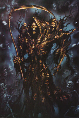 Poster : Fantasy:  Grim Reaper With Skeletons -   Free Shipping ! #pp0659 Rw9 M