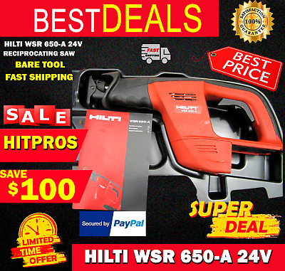 HILTI WSR 650-A 24V reciprocating saw BARE TOOL , FAST SHIPPING
