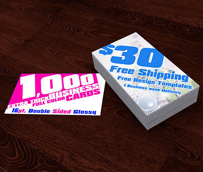 1000 Extra THICK Business Cards - Don't be fooled with the others. Free Shipping