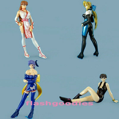 DOA Dead or Alive 3 Gashapon Figure SET of 4 pcs AUTHENTIC C-works Epoch 2003