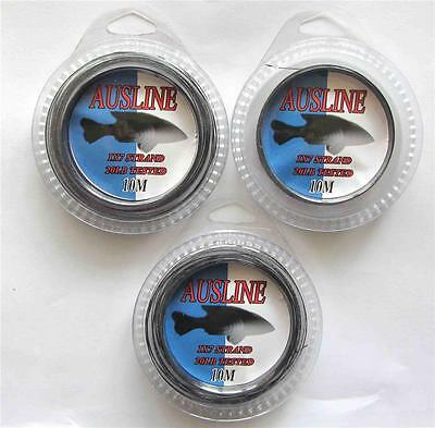 3x10m/spool, Nylon Coated Stainless Steel Wire 20lb 1x7 Strands, Fishing Tackle
