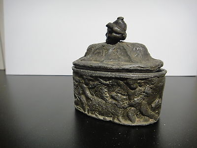 VERY RARE, 1700's LEAD WARE TOBACCO BOX. HIGHLY COLLECTABLE.