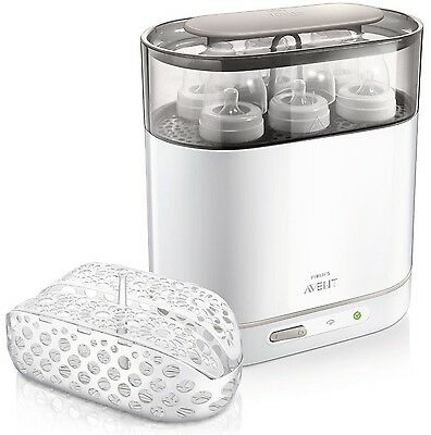NEW & SEALED! Philips AVENT Electric Steam Adjustable Size Sterilizer (4-in-1)