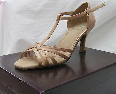 Bloch Ladies Ballroom Dance Shoes, Style Nicola, Rose Satin, New PRICE REDUCED!!
