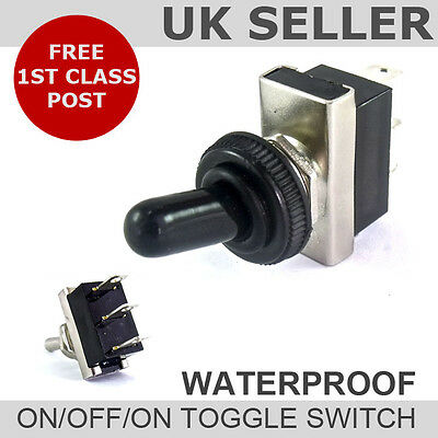 Waterproof Cover On/Off/On Toggle Flick Switch *12v 24v