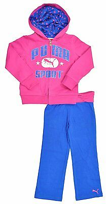 PUMA GLITTER CAT infant Baby Girls PUMA 2Pc. Tracksuit SPORT Set Outfit ROSE 12M