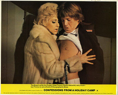 Confessions From A Holiday Camp Original Lobby Card Robin Askwith Liz Fraser