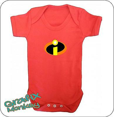 """""""Incredibles"""" Red Baby vest.. the Incredibles baby grow"""