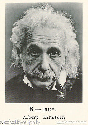 SMALL POSTER : ALBERT EINSTEIN - E = MC2   - FREE SHIPPING! #M0013 RP58 iC
