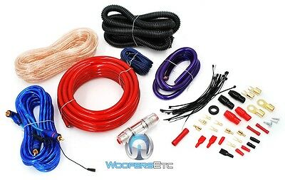 NITRO 2000 WATTS PRO 4 GAUGE COMPLETE WIRING AMP KIT AMPLIFER CABLE WIRES RCA