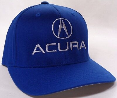 HAT CAP FLEX Fitted Acura A Logo Black Small Or Large - Acura hat