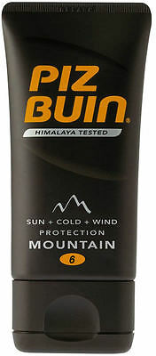 Piz Buin Mountain Cream Sun Tan Lotion SPF 6 Pocket Size 40ml