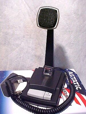 5 PIN DIN  Desk Microphone Astatic AST-878DM Amplified CB Ham Radio Base Station