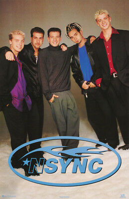 Poster :music : N Sync - All 5 Standing  - Free Shipping !! #7533 Rw4 E