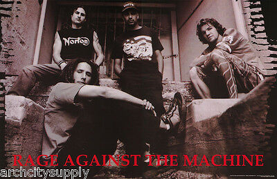 Poster : Music : Rage Against The Machine - Posed - Free Shipping ! #6199 Rw5 L