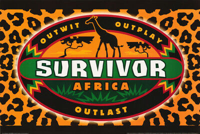 Poster :tv Show: Survivor Africa   -    Free Shipping ! #24-072  Rw5 M