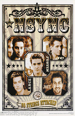 Poster : Music : N Sync - Faces - No Strings Attached #1 - Free Ship #7570 Rw5 D