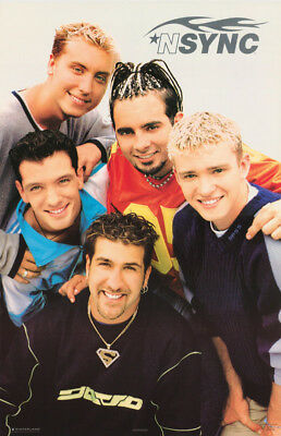 Poster : Music : N Sync - Group Shot - Free Shipping      #7520 Rw6 L