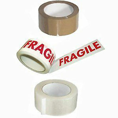 CLEAR BROWN FRAGILE BUFF CELLOTAPE TAPE ELECTRICAL PVC 48mm 50mm DUCT GAFFER