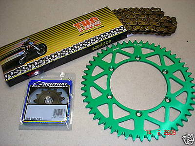 THC Chain And Green RFX Sprocket Kit KX KXF 125 250 450 500 85-19
