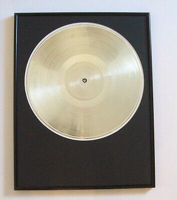 Platinum/Silver Plated Record White Gold Award Trophy Blank LP Custom RIAA Style