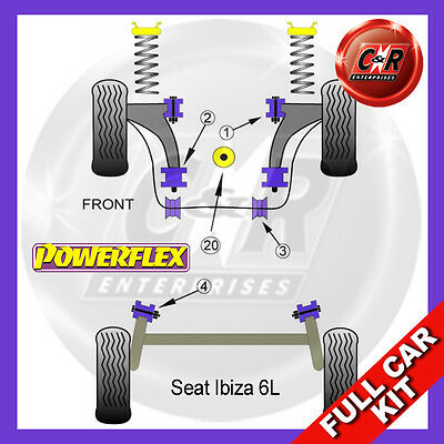 Seat Ibiza 6L (2002-2008) Powerflex Complete Bush Kit