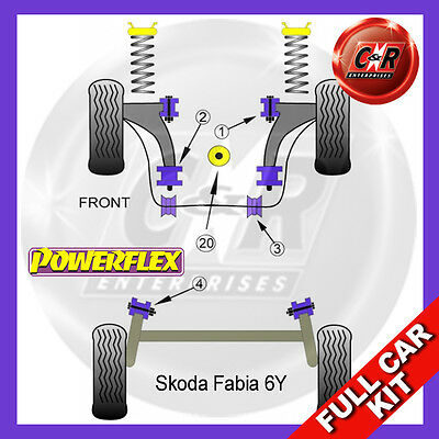 Skoda Fabia (2000-2007) Powerflex Complete Bush Kit