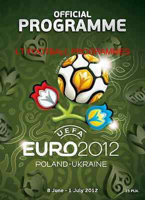 * Euro 2012 Official Tournament Programme (English Language)  *