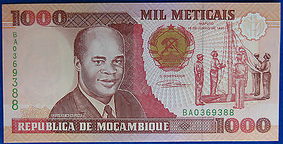 MOZAMBICO 1000 METICAS 1991 FdS #B854