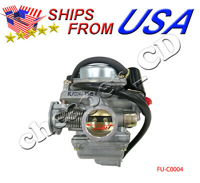 Scooter 24mm 110 125 150CC GY6 Carb Carburetor For Moped ATV Go Kart Roketa SUNL