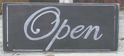 OPEN  - CLOSED WOOD SIGN DBL Sided Wood Sign Shabby CUSTOMIZE COLORS