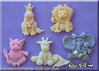 Baby Animals Silicone Cake Decorating Mould by Alphabet Moulds