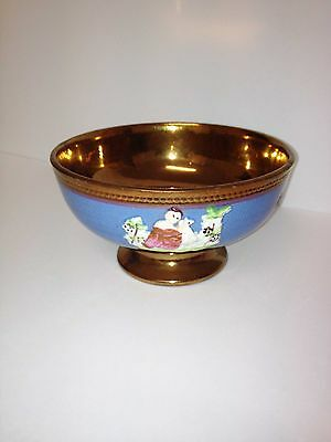 Genuine Copper Lustre Bowl .with Decorative Detail. Great Collectable