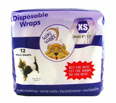 *Authorized Seller* Wiki Wags Male Dog Puppy Disposable Diaper Wraps Bellybands