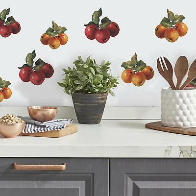 26 New FRUIT HARVEST WALL DECALS Grapes Apples Stickers Kitchen Decor Decoration