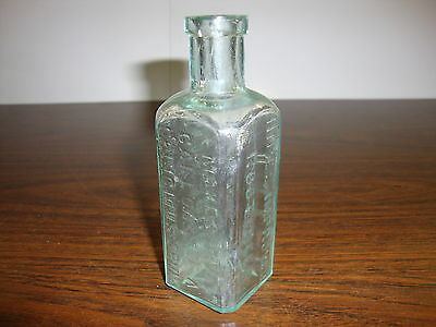 "Hires Improved Root Beer---Syrup Bottle---Empty---4 1/2"" Tall---Approx. 1890's"
